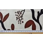 HIDA - tissu imprimé 280 cm - 75% coton 25% lin - vendu au mètre