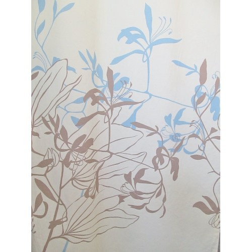IONA  BLEU -  tissu imprimé 280 cm - 100% coton - vendu au mètre