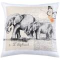 COUSSIN  éléphants - 40 x 40 cm