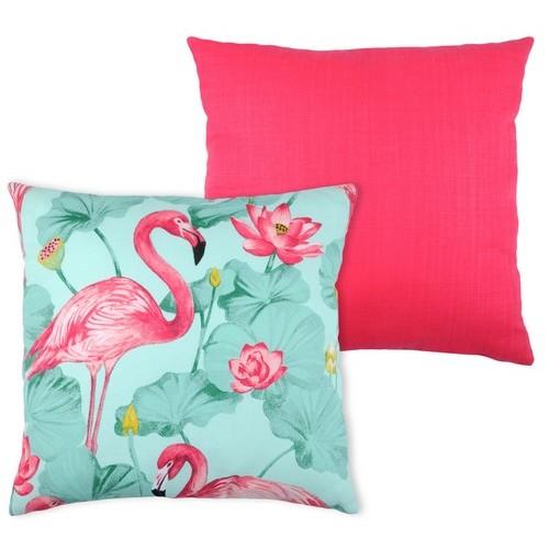 Coussin imprimé couleur motif animal flamand rose pas cher pour la ...