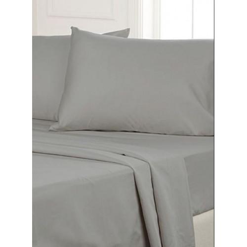 drap pour lit queen couleur gris en microfibre de qualit. Black Bedroom Furniture Sets. Home Design Ideas
