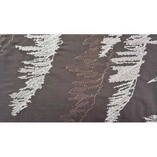 Housse de couette et 2 taies brod es decorsfabrics loutre - Housse de couette polyester ...
