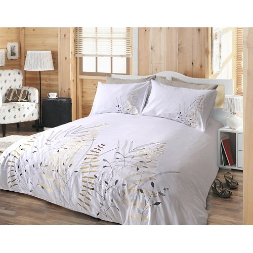 Duvetcover embroidered coton decorsfabrics canada for Housse de duvet