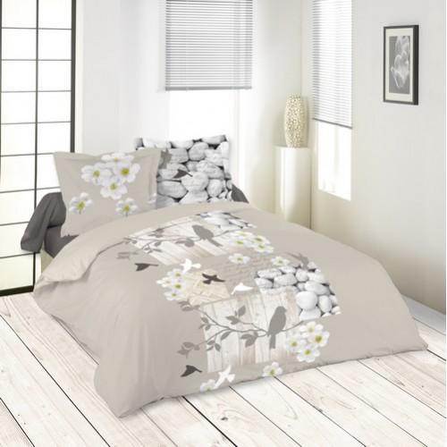 housse de couette d corative zen yoga imprim e moderne en. Black Bedroom Furniture Sets. Home Design Ideas
