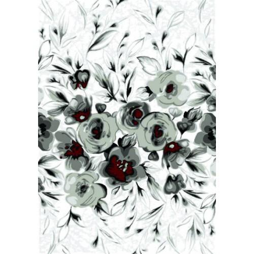 PLATINUM 3092-24 -  TAPIS blanc noir  gris rouge 160 X 230 cm et 1 autre dimension -  heatset polypropylène  - prix à partir de