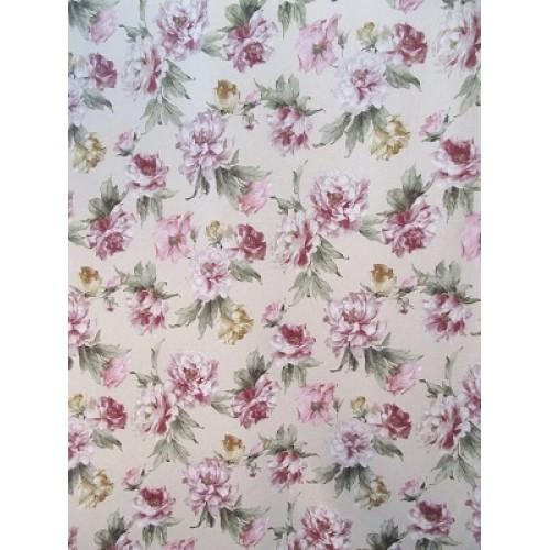 INÈS 04 -  Tissu imprimé 280 cm - 75% coton 25% lin - vendu au mètre
