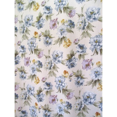 INÈS 03 - Tissu imprimé 280 cm - 75% coton 25% lin - vendu au mètre