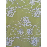 GALA green - printed fabric 280 cm - 90% cotton 10% linen - sold by the meter