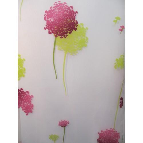 PIVOINE voilage fleurs - 55% polyester 45% viscose - vendu au mètre