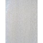 CORAIL voile blanc - imprimé coraux - 50% polyester 50% viscose - vendu au mètre