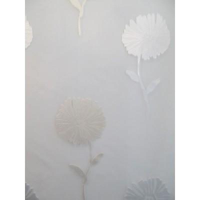 CHIC voilage fleurs brodées - 100% polyester - vendu au mètre
