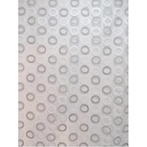 RONDS voilage brodé - 290 cm - 100% polyester - vendu au mètre