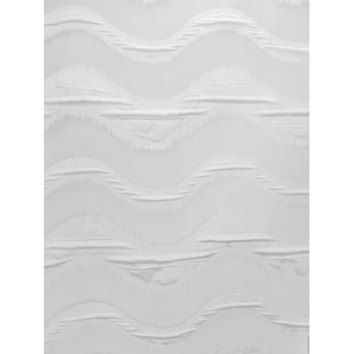 VAGUE voilage blanc - 290 cm - 100% polyester - vendu au mètre