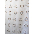 ELLI - voile organza imprimé - 50% polyester 50% viscose - vendu au mètre