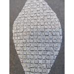 MIO  noir ou blanc - voilage brodé - 290 cm - 100% polyester - vendu au mètre