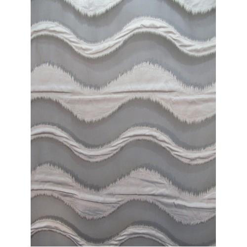 VAGUE voilage brun - 290 cm - 100% polyester - vendu au mètre