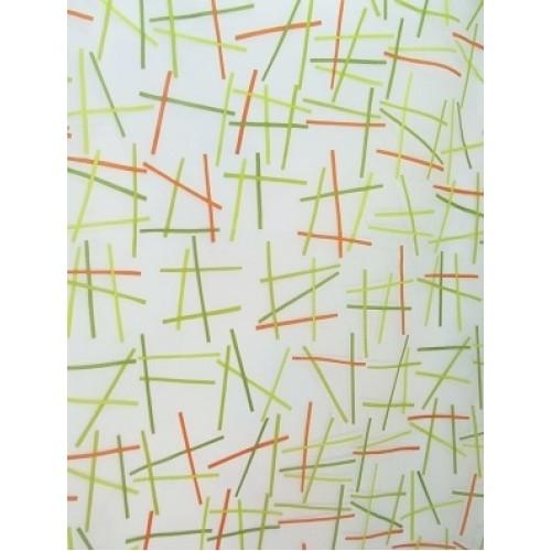 JUDE voilage imprimé - 280 cm - 55% polyester 45% viscose - vendu au mètre