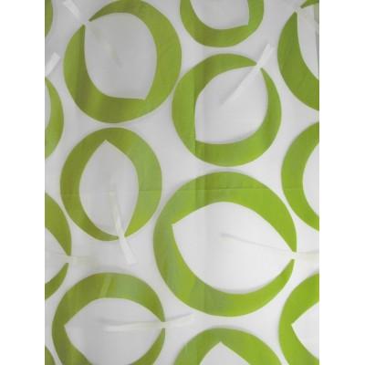 IZA vert - voilage imprimé - 280 cm - 55% polyester 45% viscose - vendu au mètre